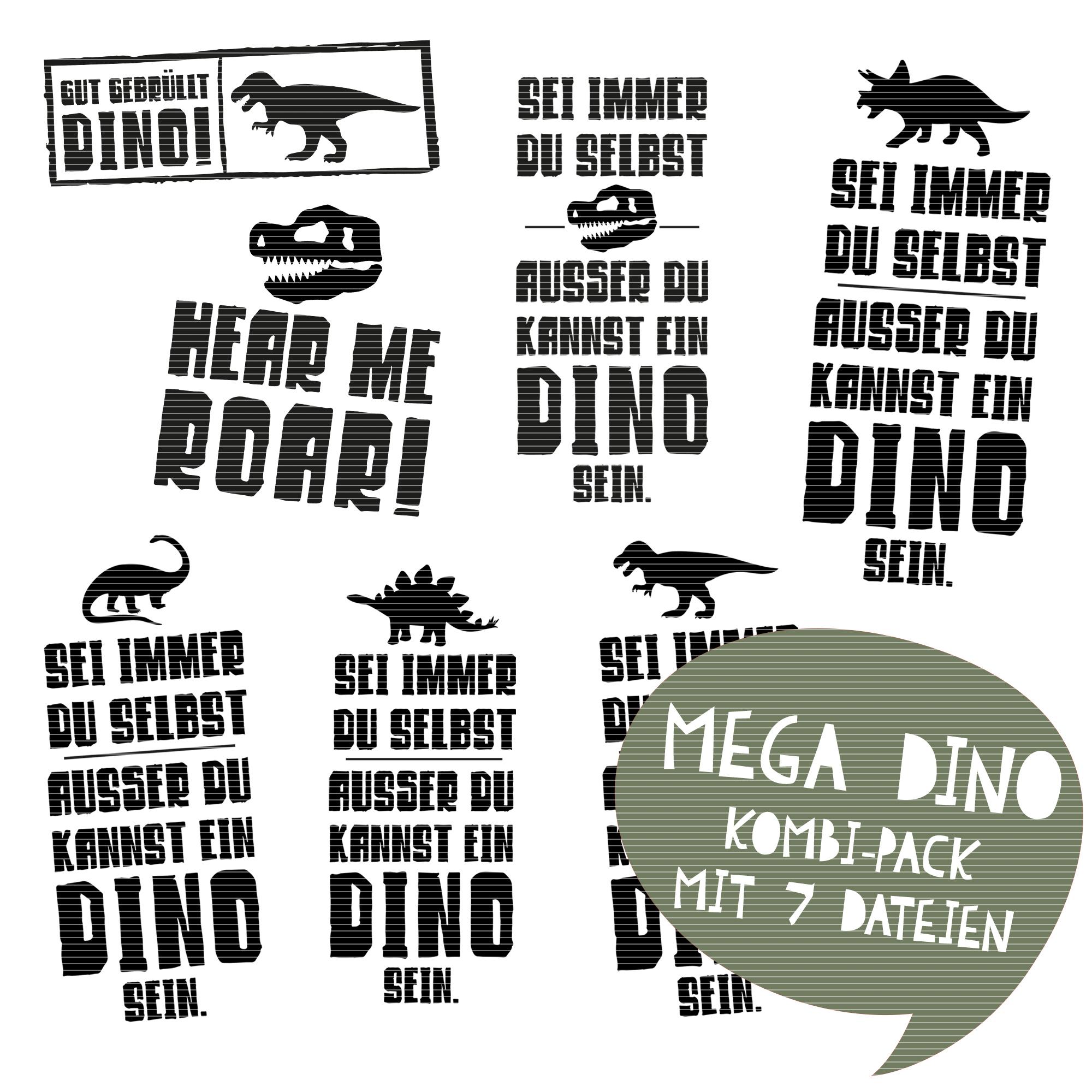 Goldmarie Plotterdateien Dinos Megabundle