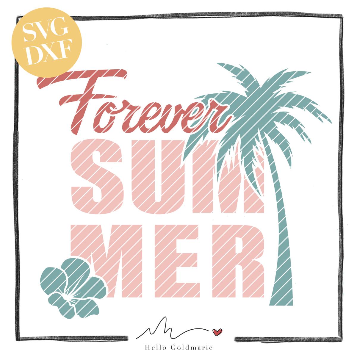 HELLO Goldmarie Plotterdatei - Forever Summer